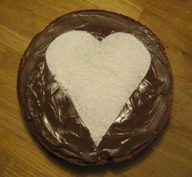 Rödbets- och chokladkaka